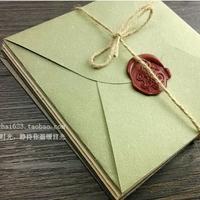 Vanilla paper diy blank envelope square cd cd-rom storage envelope hemp rope stamp