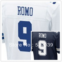 Free Shipping - Elite Stitched Dallas Football Club #9 Tony Romo American Football Jerseys, Accept Dropping Shipping.