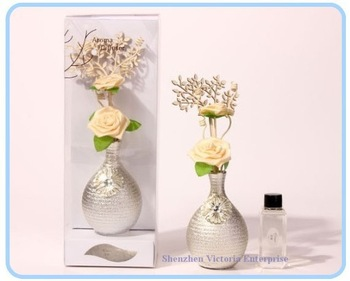 Silver Bottle Reed Diffuser ; Home Natural Incense & Perfume ; Natural Fragrance Champignon Home Essential Oil Aroma Incense