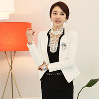 2014 Autumn Women's Professional business suits formal office work Set wear Fashion White Collar suit office lady