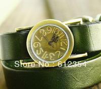 freeshipping 20pc/lot 5colors cow leahter band punk watch, 2013 hot sale women bracelet ancient totemism watch,quartz movement