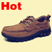Free shipping 2013 new selling men's shoes  fashion  brands  casual shoes men  sneakers  Genuine leather  Hiking shoes