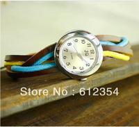 Personality folk style blue wicker Bracelet watches, wholesale leather watch 100pcs/lot free shipping