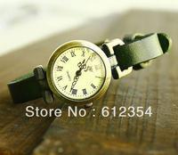 100pcs by DHL Roman female form of new fashion quartz watch head Rome unicyclic smooth leather Free Shipping