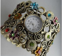 Free shipping by DHL Vintage diamond bracelet watch watchband steel sheet ladies watch bracelet watch bracelet watch