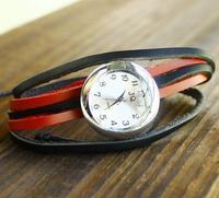Holiday sale Punk Fashion watch Wholesale Real Cow Leather bracelet watch women HANDMAD Quartz Watch