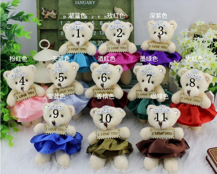 Wholesale 96PCS Little LOVE words Stuffed Soft Plush Teddy Bear Phone Pendant, Phone Charm,Cartoon Doll Keychain as wedding gift(China (Mainland))
