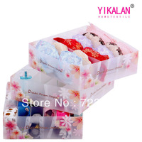 Magic cube high quality bra underwear storage box plastic piece set storage box