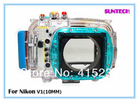 Diving Camera digital  camera bag Underwater 40M camara waterproof case for Nikon V1(10mm)