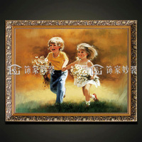 Fashion oil painting box art paintings child entranceway decorative painting tn032