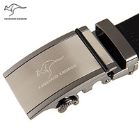 Kangaroo male strap automatic buckle cowhide belt male genuine leather strap casual belt