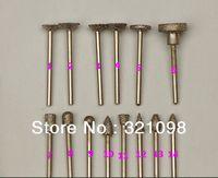 14pcs/set  3mm BRAZE Diamond Electric  grinding head high quality