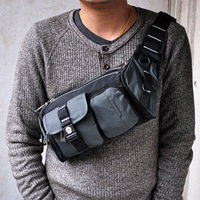 2013 welis waist pack male waist pack chest pack multifunctional bag fashion man bag