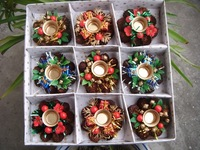 Christmas decorations 8cm Christmas candle holders The wreath candlestick free shipping