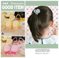 free shipping baby headbands new 2013 lollipop single head hair rope headband rubber band girl hair accessory