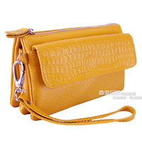 2013 women's handbag female day clutch genuine leather clutch coin purse women's messenger bag Free shipping