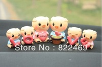 NEW  A set of 6 Cute Resin Pigs  Toy Model Child Car Table Ornament  Gift Decor For  All Car  Resin Decor Love Whole Family