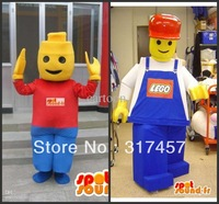 customized 2 lego  Mascot Costume Adult Character Costume Cosplay mascot costume free shipping