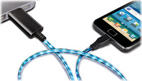 Light Up Luminescent LED Visible Current Flow Smart Charge and Sync Micro USB Cable for Android phone Samsung S3 S4 HTC