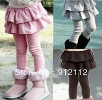 Free shipping Retail 1pc Girls' Leggings & Tights Children's skirt Girls Skirt-pants Cake skirt Girl's pants