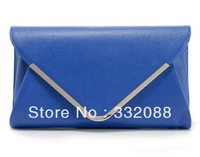 2013 Crazy Selling Promotional  Pu Leather Envelope Bag Day Clutches Fashion  Women Handbag Small Chain Bags Free Shipping