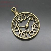 Diy fashion pendants charms alloy fashion pendants charms vintage clock pocket watch bracelet necklace  Free Shipping