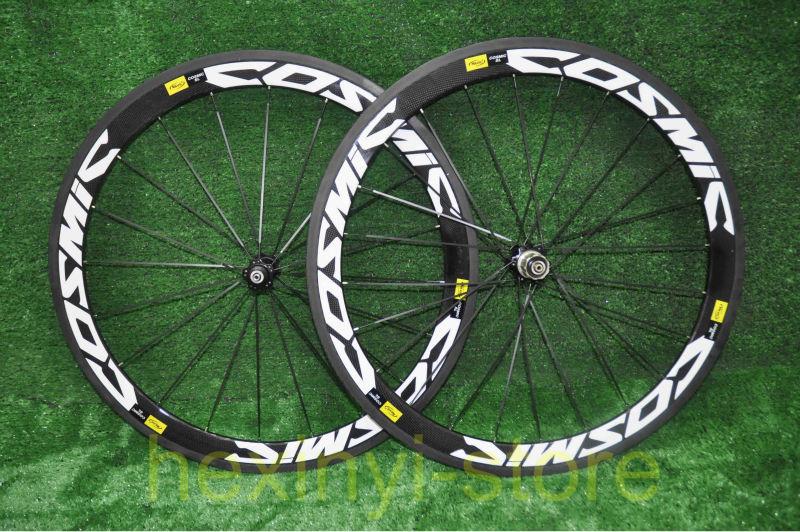 1pair New MAVIC COSMIC 700C (50mm) clincher rim 3K full carbon bicycle wheelset Road carbon bike wheelset +spokes+hubs Free ship(China (Mainland))