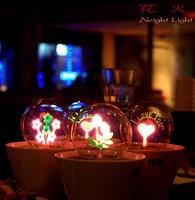 Cheap Wholesale Fireworks light lamp night light romantic pot Creative Lighting Nightlight 10pcs/lots energy