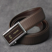 New arrival leather neologic men's automatic buckle strap cowhide belt commercial male casual pants belt