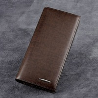 Leather neologic cowhide long wallet design male commercial quality card holder men's wallet