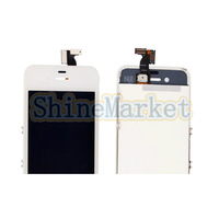 LCD Touch Screen Replacement with Bezel Frame for iPhone 4 GSM Version White