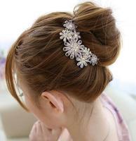 South Korea headdress fashion hair beautiful flowers set auger adorn article hair comb hair ornament