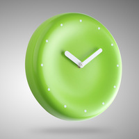 Small fresh wall clock brief green white clock silent movement fashion