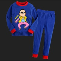 Free shipping 2013 September new style Children's Gangnam Style sleepwear, Boys Girls Sleepwear long Sleeve Pyjamas