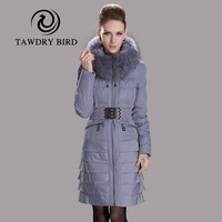 Winter new arrival fashion slim raccoon fur women's medium-long down coat
