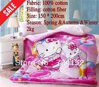 100%cotton Free shipping Cute princess/children/baby/kid Cartoon duck and minnie Quilt bedding 1.5*2M  Spring&autumn&Winter VP22
