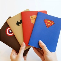 Free Shipping A6 superman series notebook, 4models available-superman,batman,iron man, captian of america