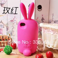 Korean rabito Cute rabbit Silicon back cover for iphone 5 & iphone 4/4s! Free Shipping!