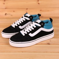 Hot-selling 13 in high genuine leather skateboarding shoes skateboard shoes color block men's casual shoes sport shoes male