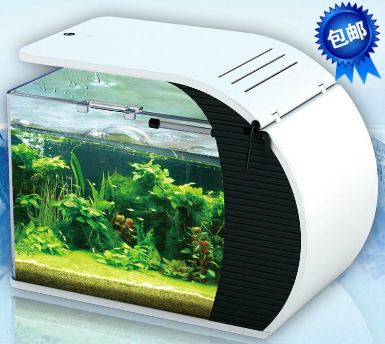 01 tropical fish tank desktop fish tank glass eco-tank small aquarium ...