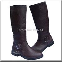 Winter trend of casual zipper outdoor boots martin boots high-leg men's boots riding boots a-2