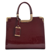 2013 spring and summer genuine leather women's handbag fashion crocodile pattern bags handbag bags