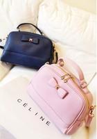 All-match brief vintage bow handbag female bags