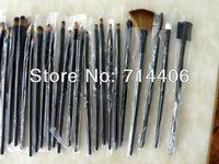 Free shipping 32 pcs Professional Makeup Brush Sets Cosmetic Brushes kit + Black Leather Case,Cosmetic Makeup Brush 50sets/lot