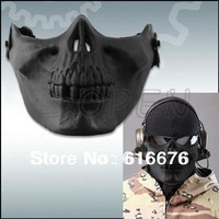 Protective Outdoor War Game Military Skull Half Face Shield Mask Cool Paintball Hunting Game Airsoft Skull Skeleton Mask