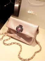 2013 women's fashion handbag messenger bag elegant noble vintage cross diamond small package clamshell