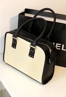 2013 candy color brief color block decoration all-match vintage tote bag messenger bag handbag women's