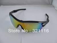 Wholesale Bicycle/Motorcycle Riding Sunglasses Goggle Outdoor Sport Safety With 5 Lens 4 Colors