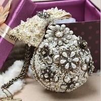 2013 limited edition strengthen edition pearl evening bag handmade bag handbag