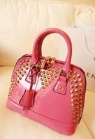 Women's handbag rivet shell bag